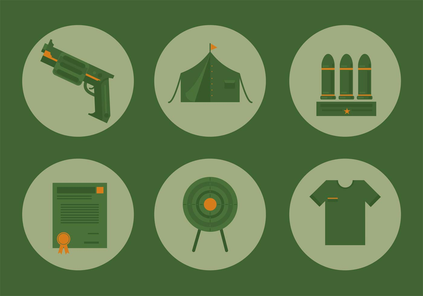 Military Icon Vector Set Download Free Vector Art Stock