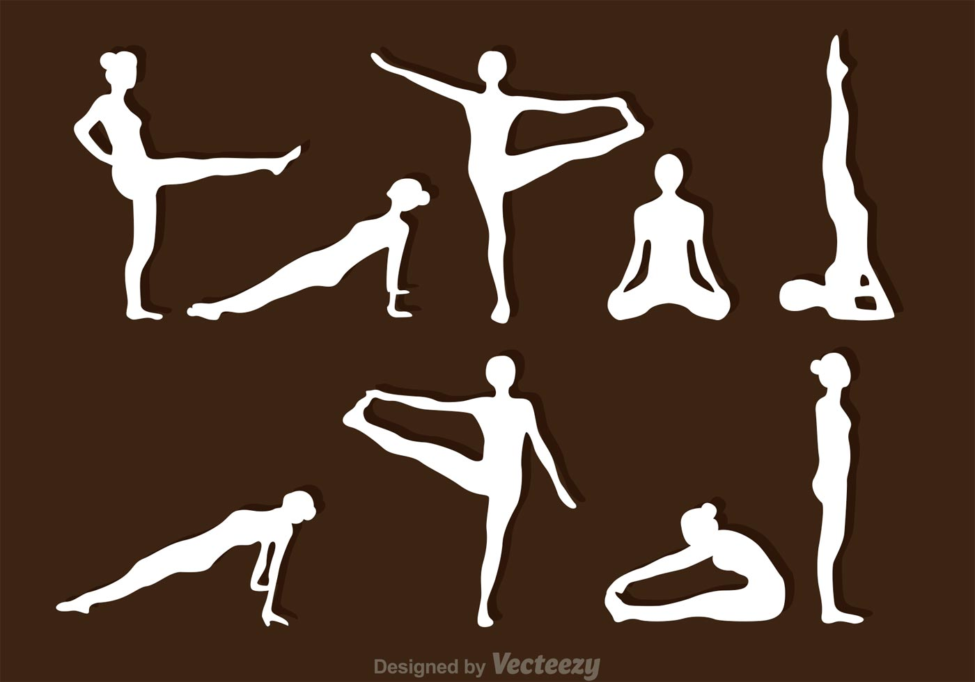 Dynamic Sports Figures Silhouette: Stretching Silhouette Vectors
