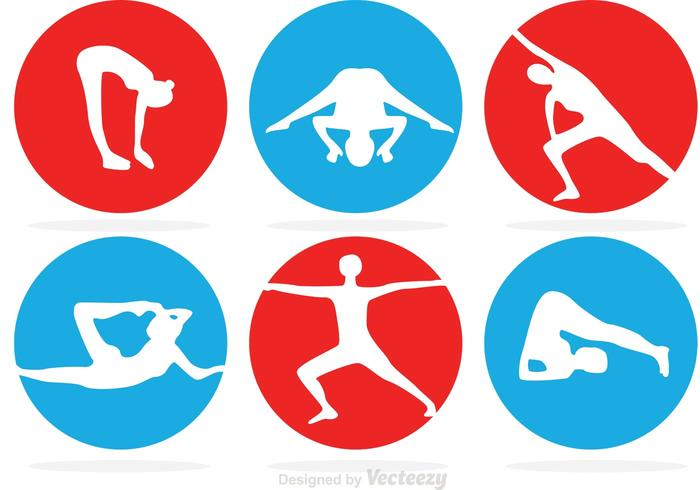 Circle Gymnastics Vector Icons