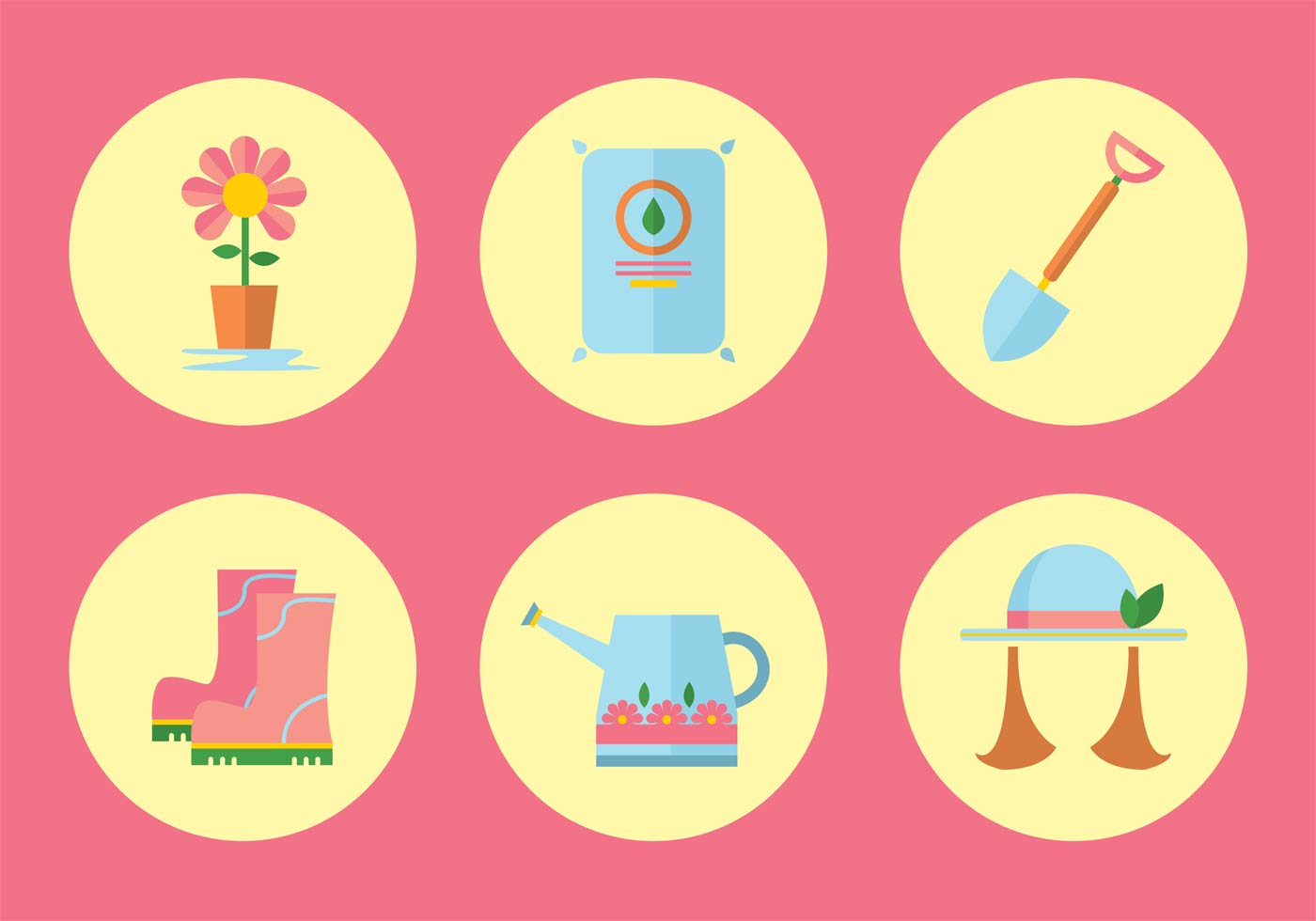Gardening Vector Icon Set Download Free Vector Art