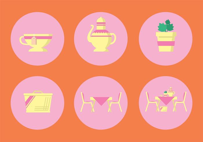 High Tea Vector Icon Set