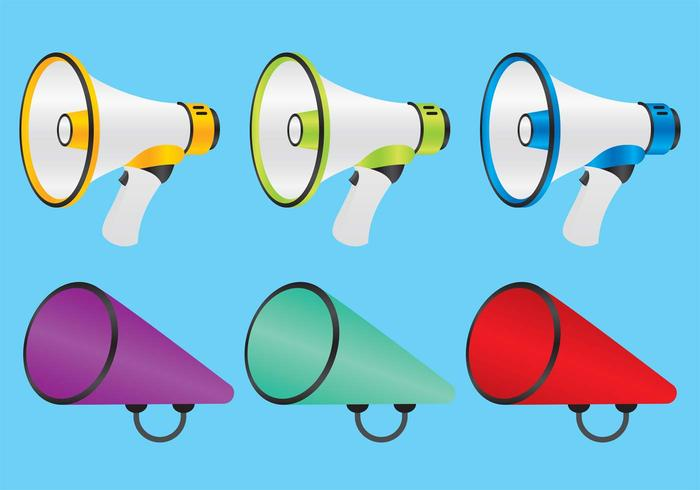 Colorful Megaphone Vectors