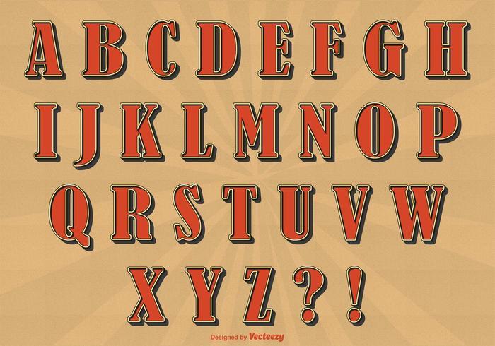 Retro Style Alphabet Set