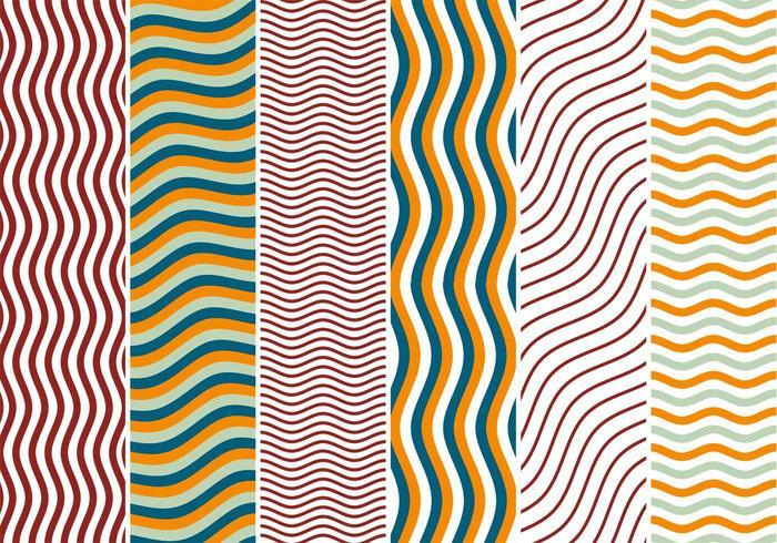Zigzag vågor bakgrund vektorer
