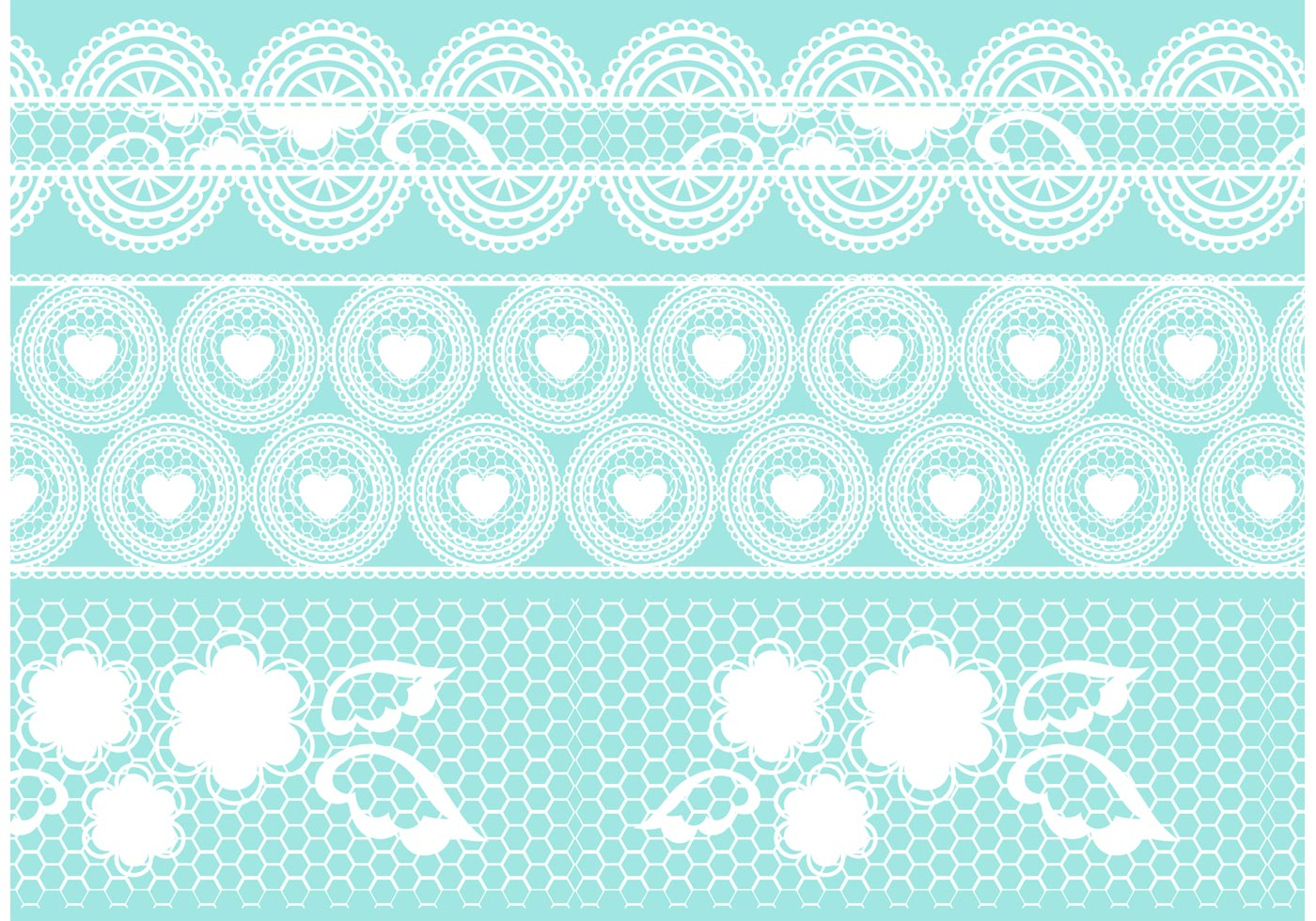 Crochet Patterns Vector : Crochet Lace Vector Set - Download Free Vector Art, Stock ...