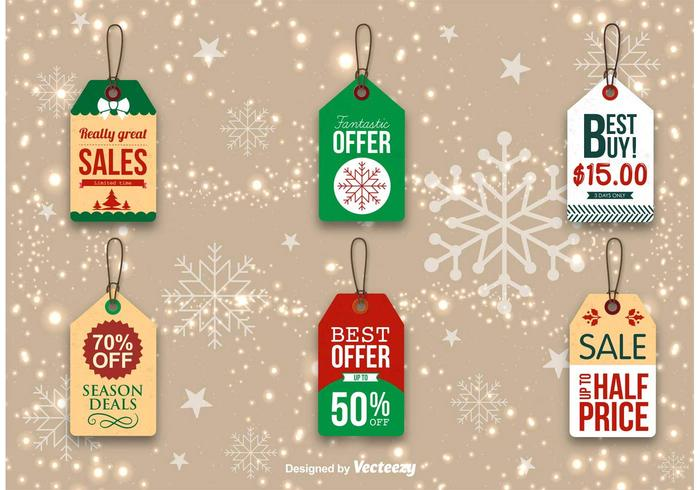 Étiquettes de promotion de Noël