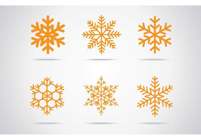 Snöflingor vektorikonen