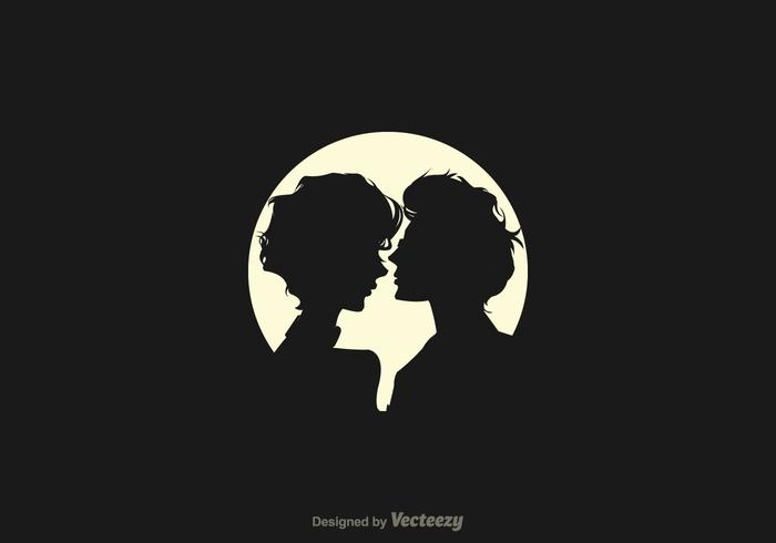 Free Silhouette Couple In Love Vector