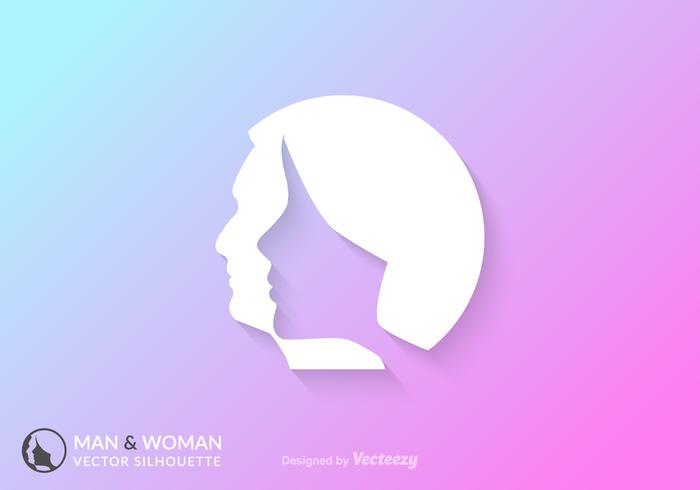 Free Man And Woman Silhouette Vector Concept