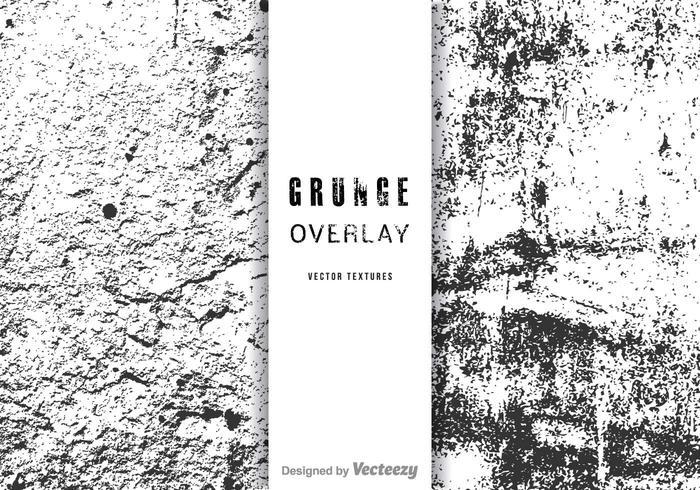 Free Grunge Overlay Vector Set