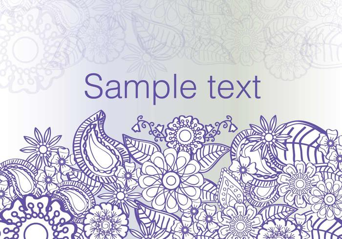 Flowers Paisley Background Vector