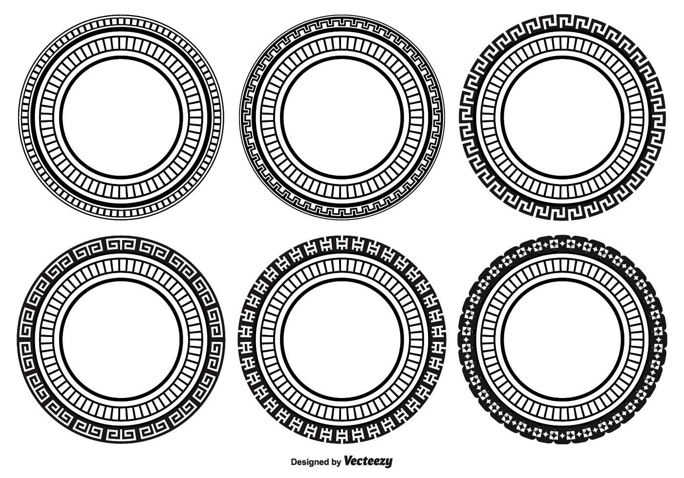Decorative Round Shape Set - Download Free Vector Art ...