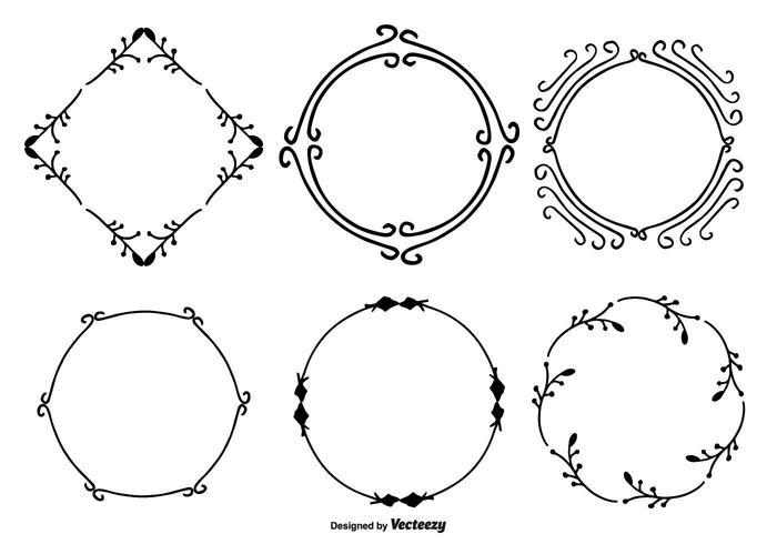 Ensemble de cadre décoratif à la main