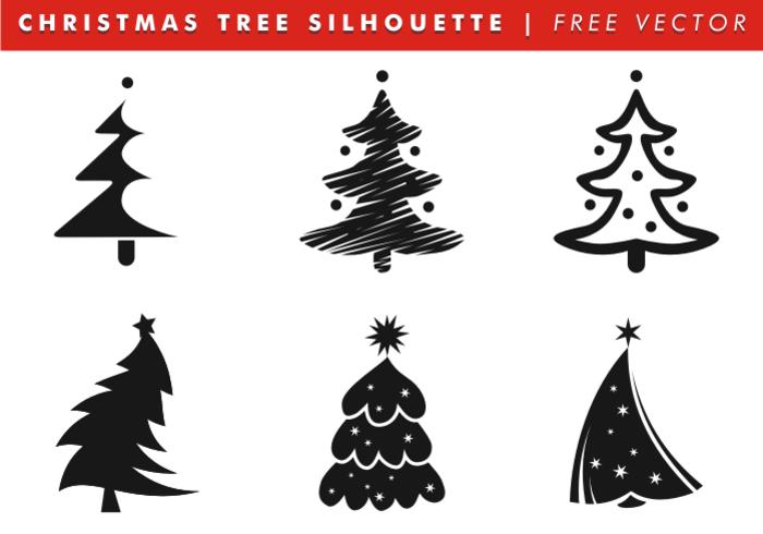 Siluetas De árboles De Navidad Vector Libre