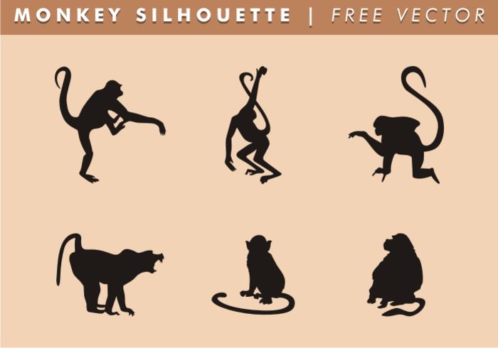 Monkey silhouette