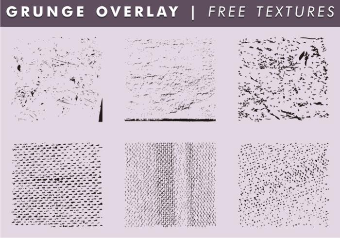 Grunge Overlays & Textures Gratis Vector