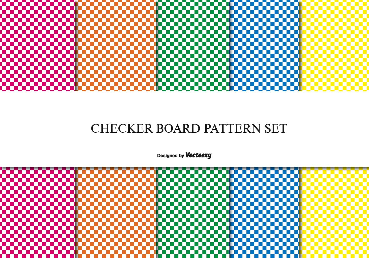 Checker Board Pattern Set Download Free Vector Art