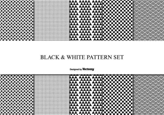 Black and White pattern Set
