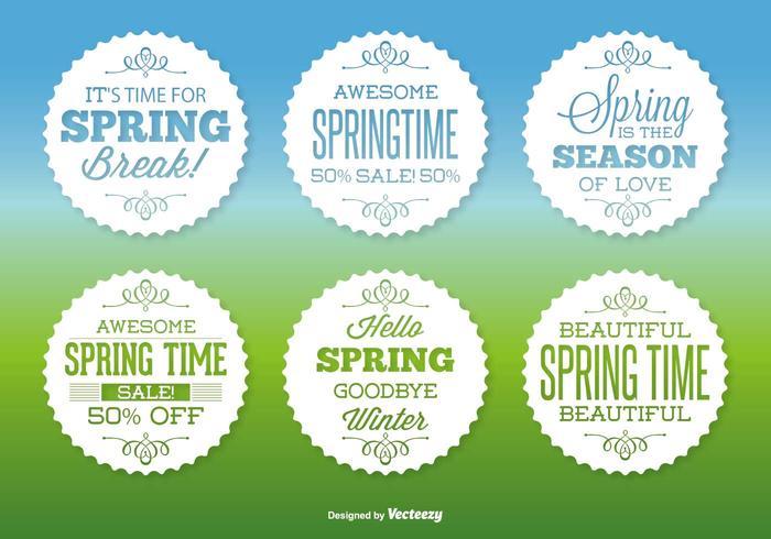 Assorted Spring Label Set