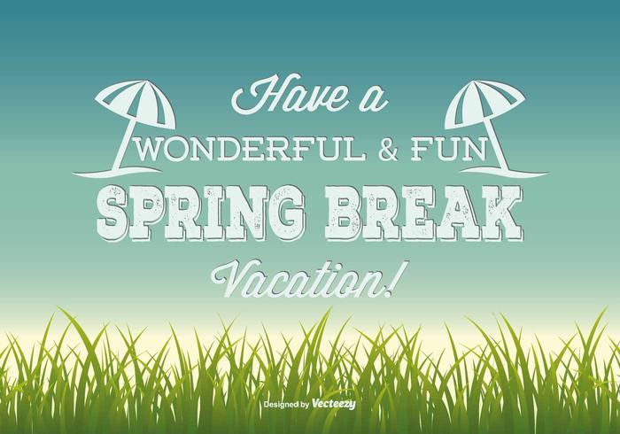 Spring Break Illustration