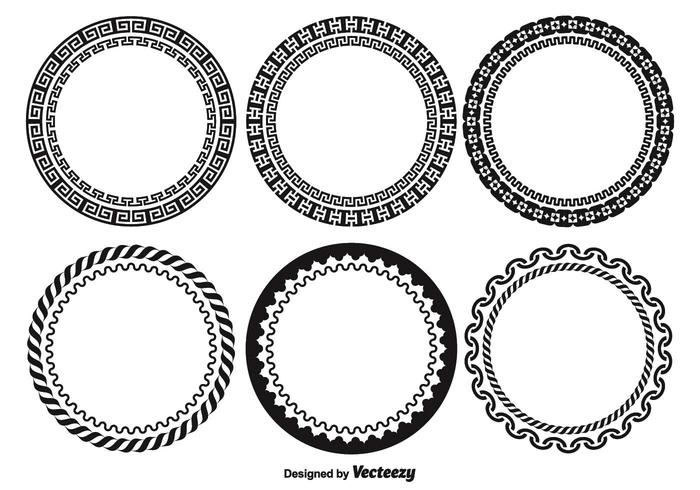 Decorative Round Frame Set