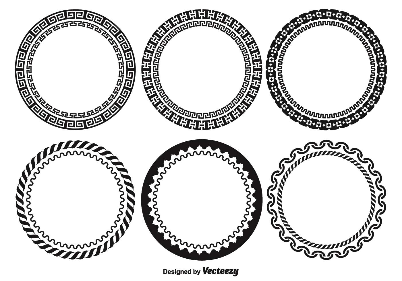 Decorative Round Frame Set - Download Free Vector Art ...