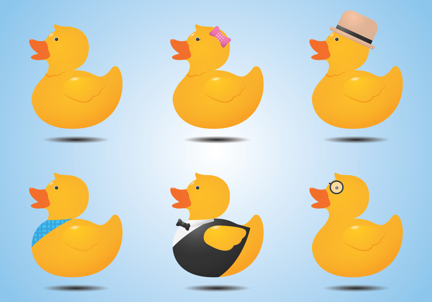Fashionable Rubber Duck Vectors Download Free Vector Art