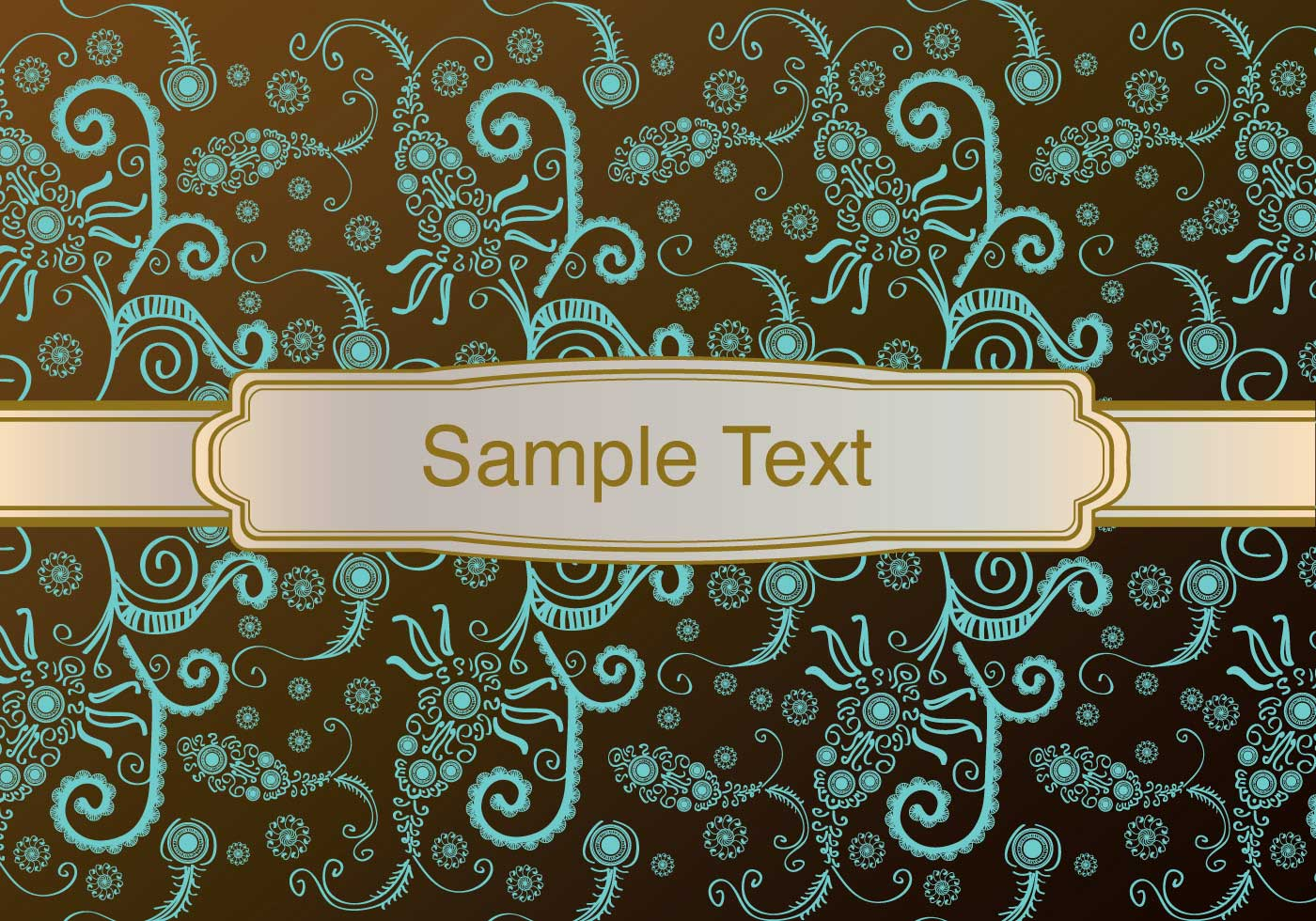 Vintage Background With Ornament