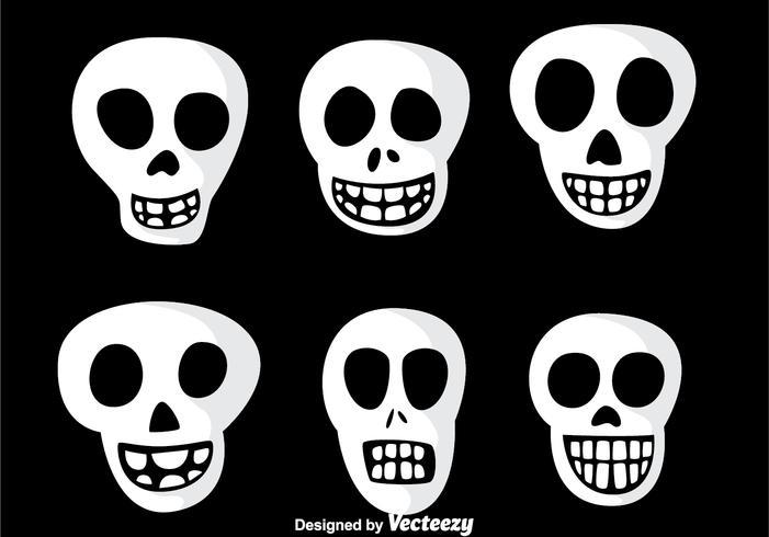 Iconos del vector del cráneo de la sonrisa