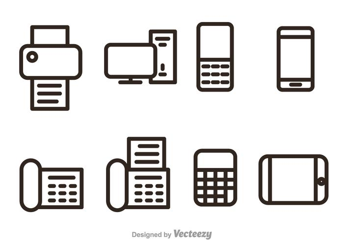 Office And Bussiness Outline Vector Icons