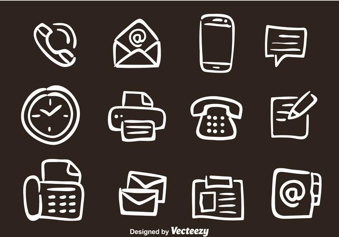 Hand Drawn Office Vector Icons