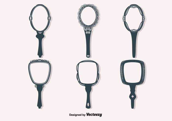 Free Vector Vintage Hand Mirrors Download Free Vector
