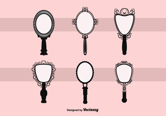 Free Vector Vintage Hand Mirror