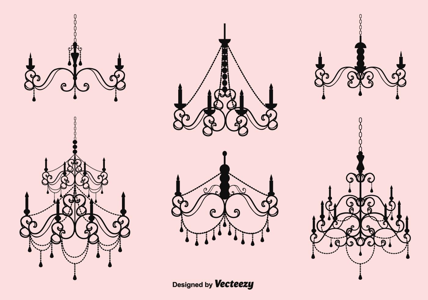 Vector Crystal Chandelier Set Download Free Vector Art