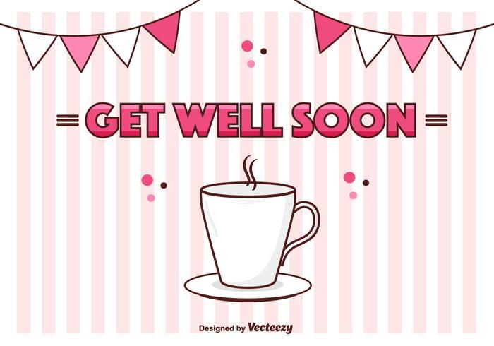 Get Well Soon Vector Card