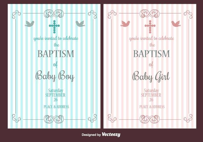 Convite do vetor do baptismo