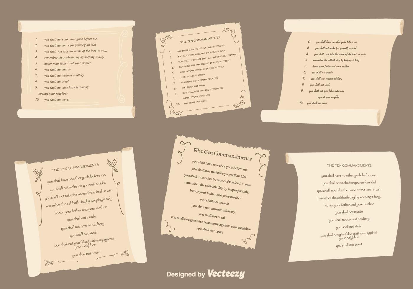 Ten Commandments Set Download Free Vectors Clipart Graphics