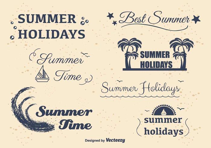 Étiquettes de vacances d'été