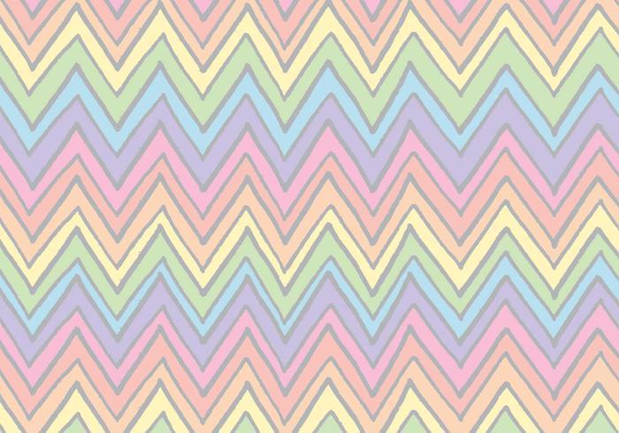 Gratis Rainbow Chevron Pattern Vector