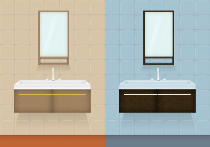 Bathroom Cabinet Vectors