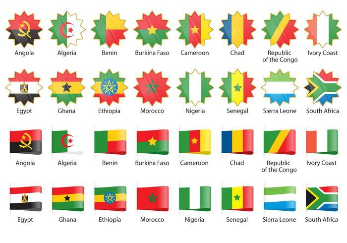 Afrikanska flaggvektorer