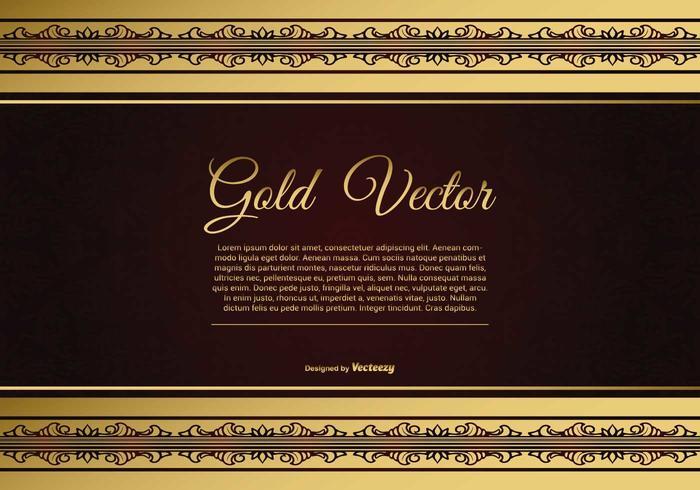 Elegant Gold and Red Background Illustration