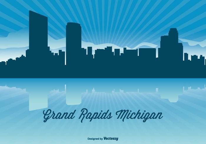 Michigan Skyline Illustration