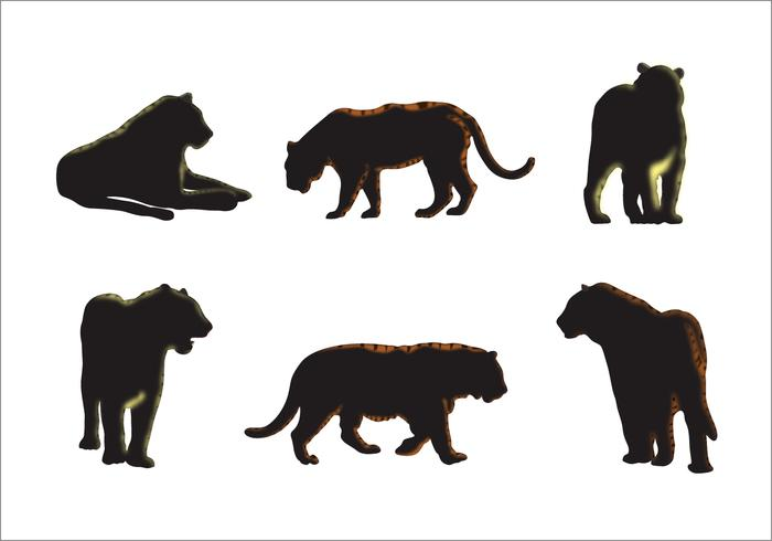 Tiger Silhouette Vectors