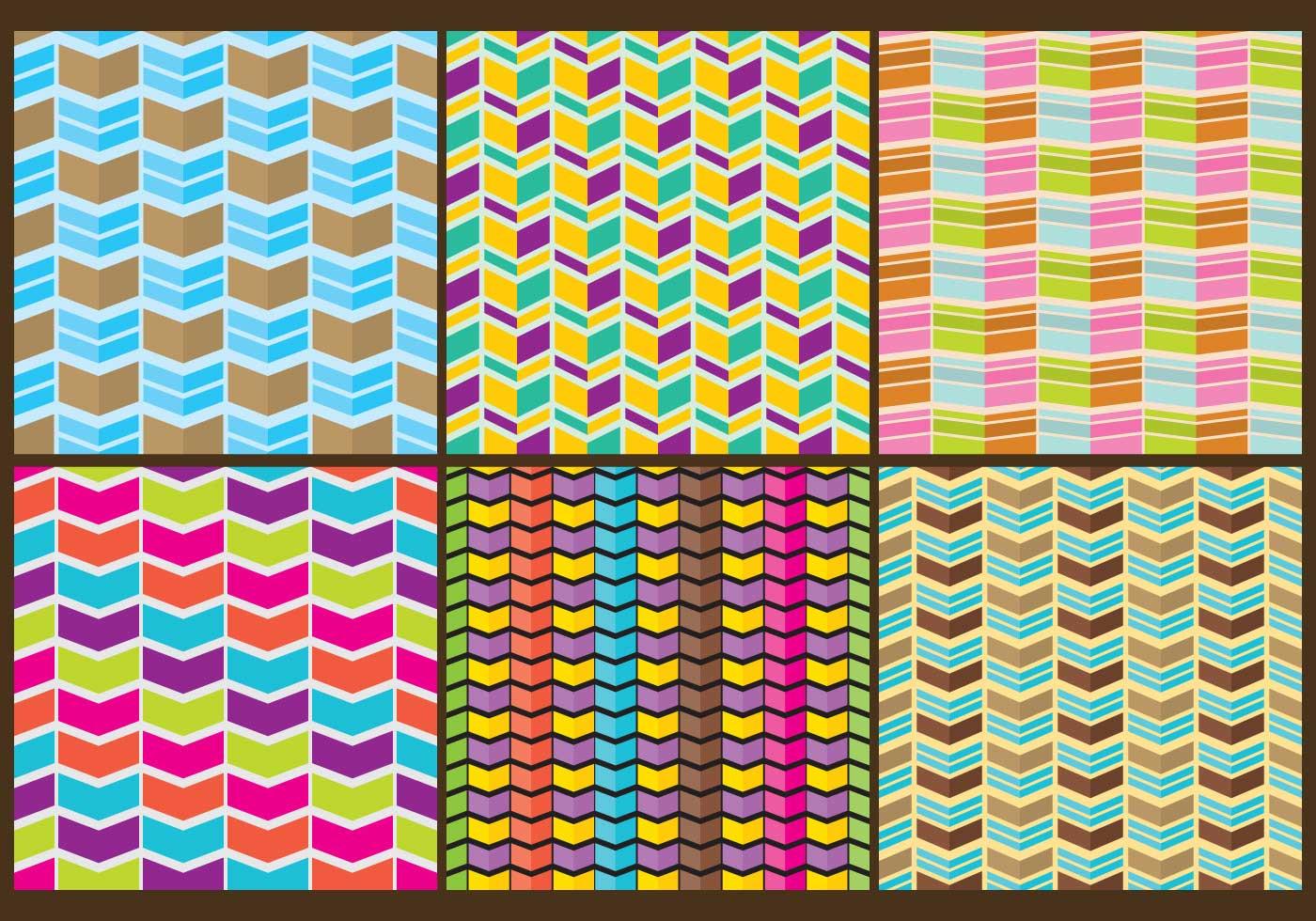 Segmented Chevron Patterns Download Free Vector Art