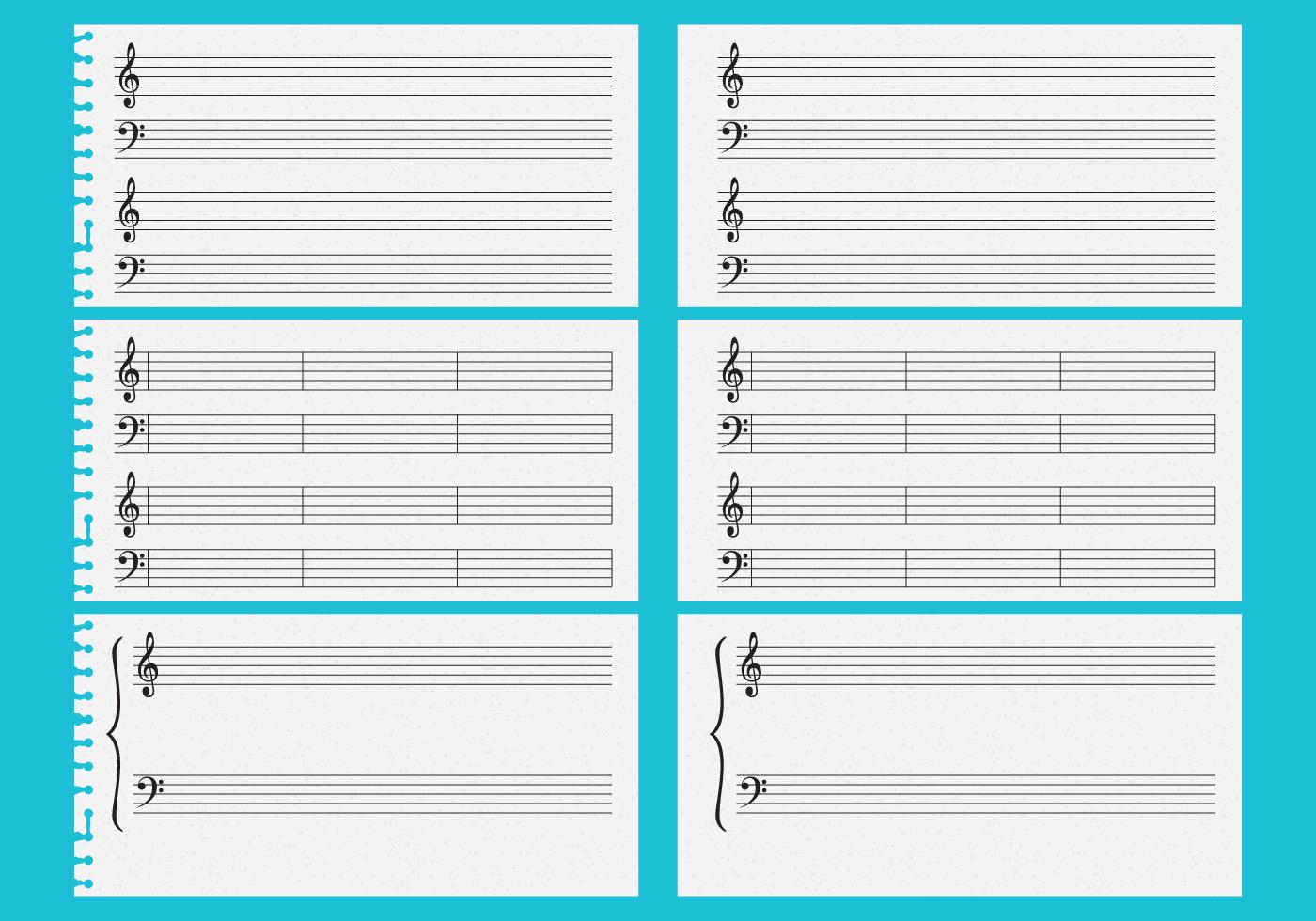 Hojas de música vectorial - Descargue Gráficos y Vectores Gratis
