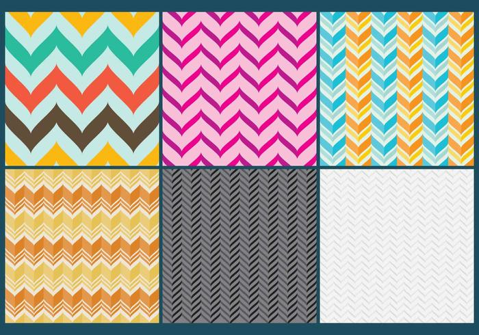 Curved Chevron Pattern Vectors