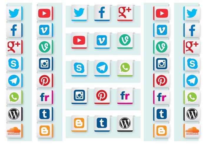 Vettori di nastro di media sociali