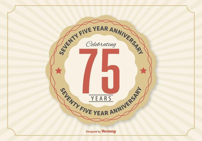 75 Year Anniversary Illustration
