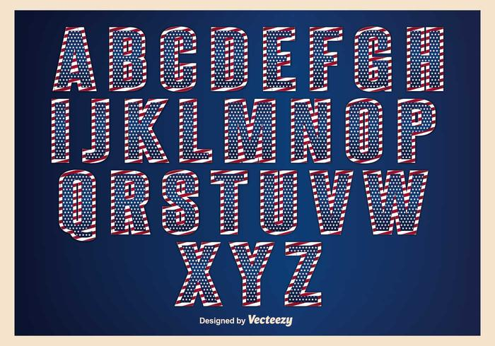 Patriotic Alphabet Set